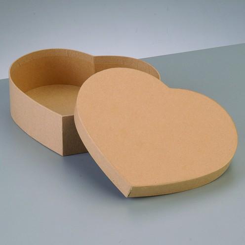 Box Herz, aus Pappmaché, 16,5 x 14 x 5 cm