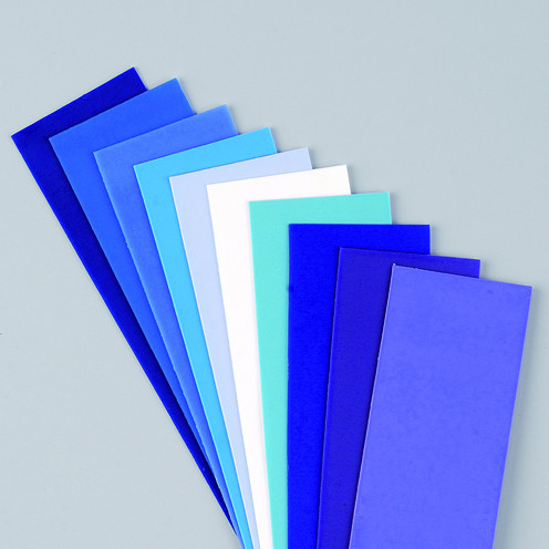 Wachsplatten Blau Mischung, 200 x 50 x 0,5 mm