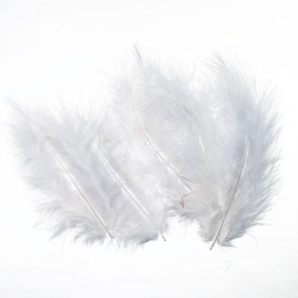 Marabufedern, ca. 10 cm, 20 St, weiß