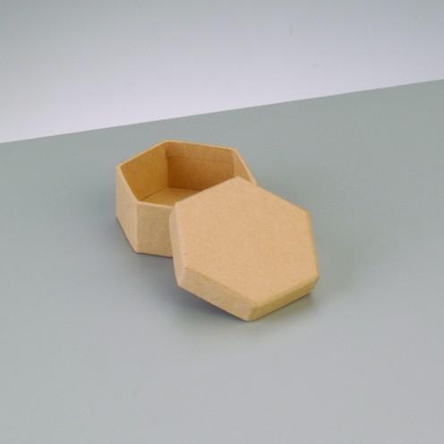 Box Sechseck, aus Pappmaché, 6,5 x 6,5 x 4,5 cm