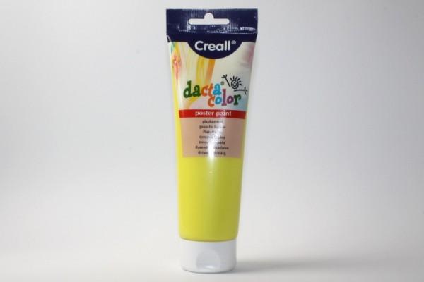 Dacta-color, Temperafarbe, 250 ml, Hellgelb