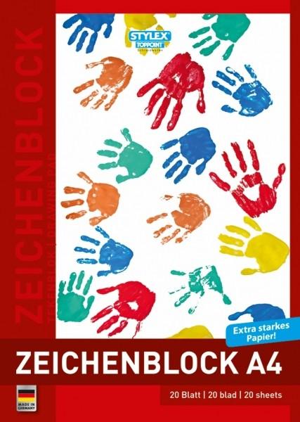 Zeichenblock, DIN A4, 120g, 20 Blatt