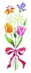 Motiv-Schablonen Blumenstrauß 18x50 cm