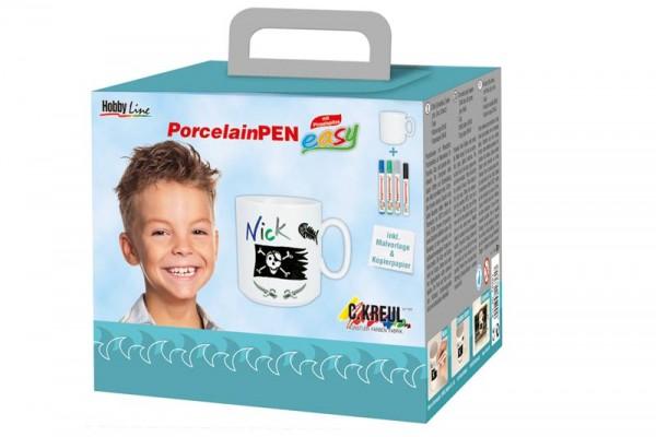 Porcelain Pen easy Tassen-Set - Jungen