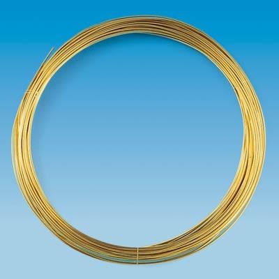 Messingdraht, 1,0 mm Ø - 4 m/Rolle