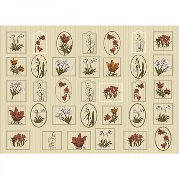 Decoupage-Papier, 17g, 25x35cm, 10 Blatt, Motiv Nr. 572