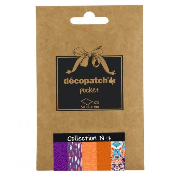 Decopatch Pocket Papier, 5er Sortiment, Collection No 7