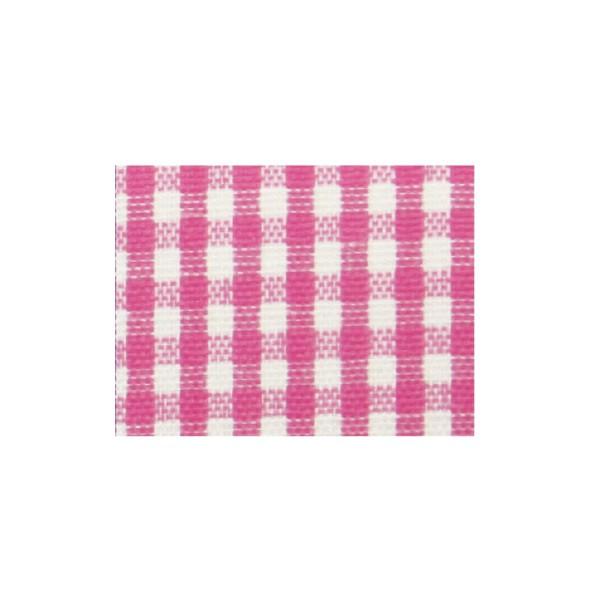 Karoband geschnitten, 25mm - rosa