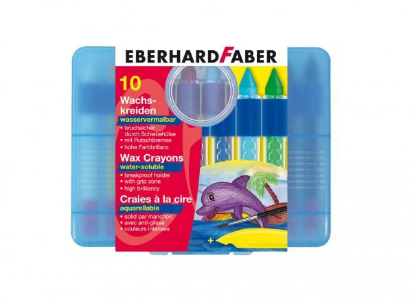EBERHARD FABER Wachsmalkreide, 10 Farben, wasservermalbar