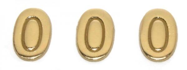 Wachszahlen, 8 mm, 3 Stück, gold, 0