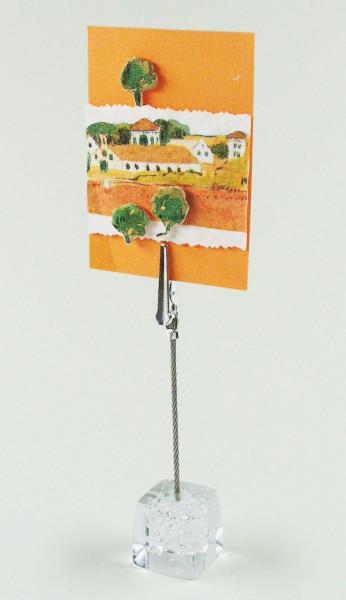 Dekoständer mit Draht und Klemme, Sockel Ø 2,5 cm