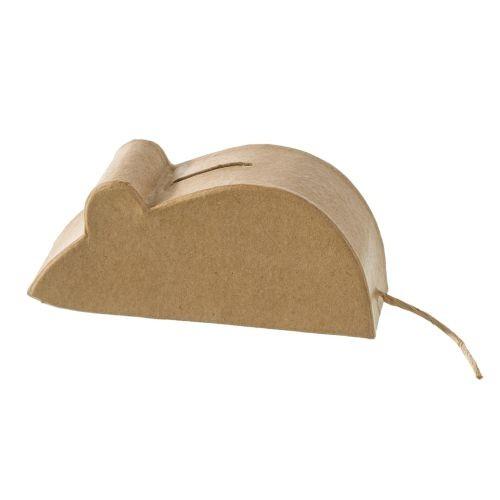 Spardose Maus, aus Pappmachè - 15 x 6,5 x 4,5 cm