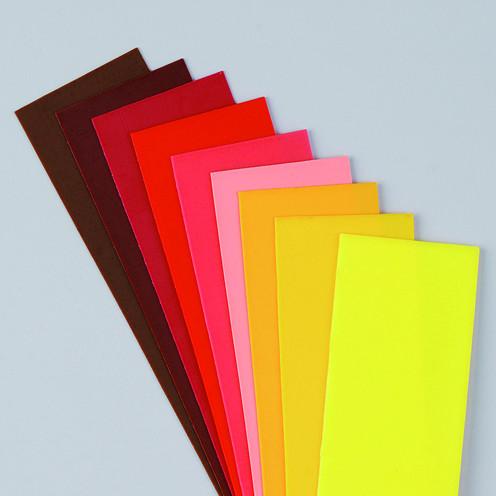 Wachsplatten Rot-Braune Mischung, 200 x 50 x 0,5 mm