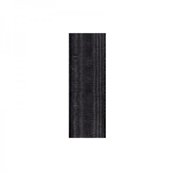 Chiffonband, 10mm breit, 10m lang - schwarz