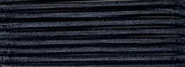 Lederriemen, 2 mm Ø - 50 m, auf Rolle, Rindleder , schwarz