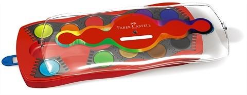 FABER-CASTELL Connector Deckfarbkasten, 12 Farben, 1 Deckweiß