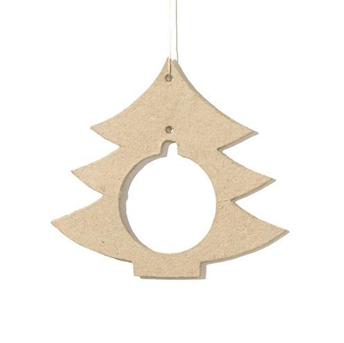 Depot Weihnachtskugeln.Pappmache Anhänger Für Weihnachtskugeln Tannenbaum 6 Stück