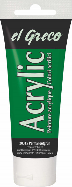 Acrylfarbe el Greco Acrylic, 75 ml - Permanentgrün