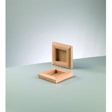 Bilderrahmen, aus Pappmachè, 15 x 15 cm / 7,5 x 7,5 cm