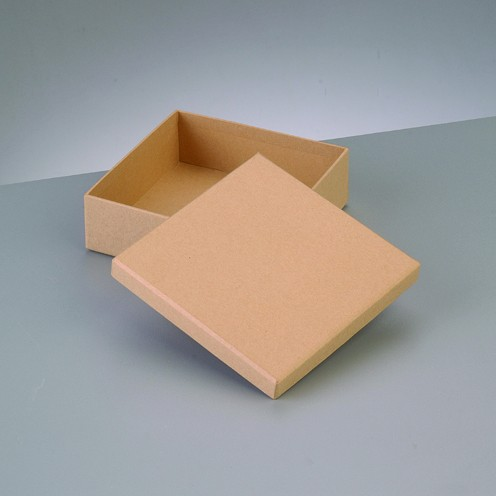 Box Quadrat, aus Pappmaché, 12,5 x 12,5 x 4 cm