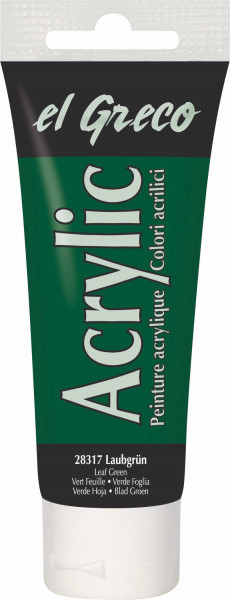 Acrylfarbe el Greco Acrylic, 75 ml - Laubgrün