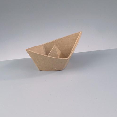 Schale Faltschiffchen, aus Pappmachè, 18 x 10 x 7 cm