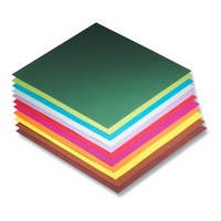 Faltblätter, 10 x 10 cm, 100 Blatt, 70 g/m², farbig sortiert