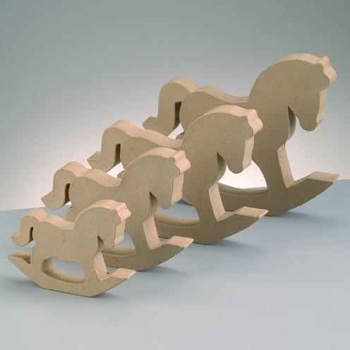 Schaukelpferd Silhouette, 24 x 18,5 x 3 cm