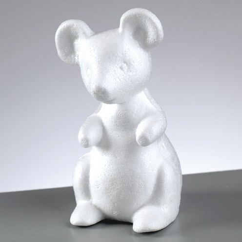 Styropor-Maus, 13 cm