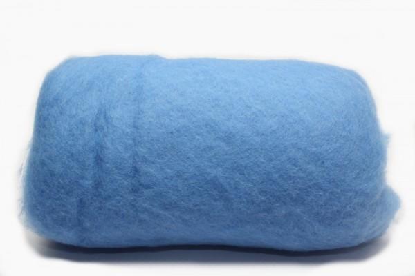 Merino-Filzwolle, im Vlies, 50 g, Himmelblau