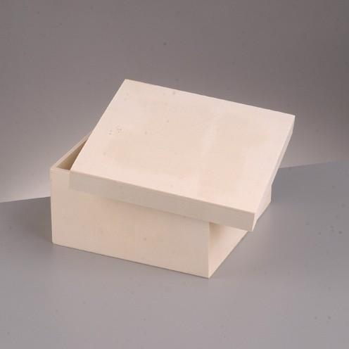 Holzkiste mit Deckel, 10 x 10 x 6 cm