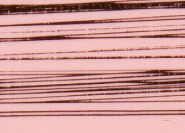 Verzierwachsplatte, gold gestreift, 200x100x0,5mm, rosa