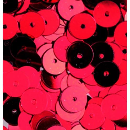 Pailletten, rund, flach, 6 mm, 4000 St, rot