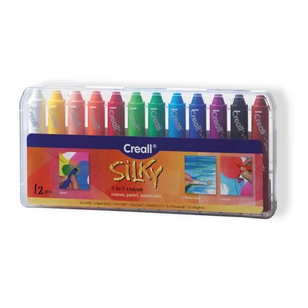 Creall Silky (3-in-1) Farbstifte - 12 Farben