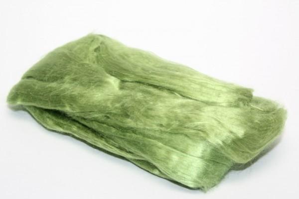 Maulbeerseidenfasern, gekämmt, 10 g, apfelgrün glänzend