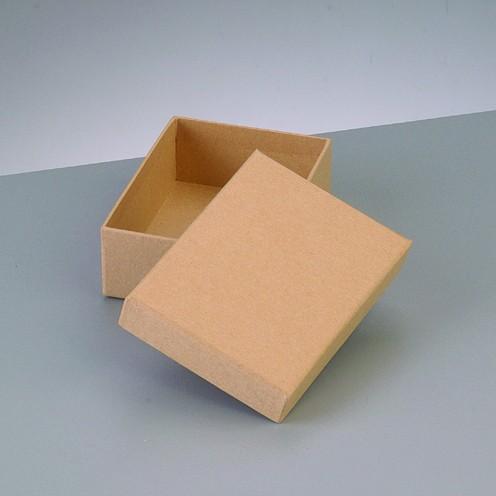 Box Rechteck, aus Pappmaché, 10,5 x 7,5 x 3,6 cm