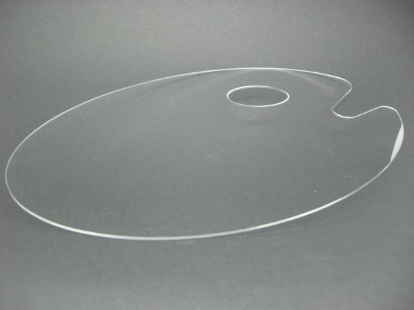 Kunststoffpalette, Acryl, transparent, 20x30cm, oval
