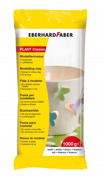 EBERHARD FABER plast classic, 1000 g, Weiß