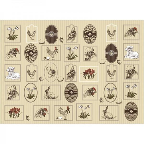 Decoupage-Papier, 17g, 25x35cm, 10 Blatt, Motiv Nr. 651