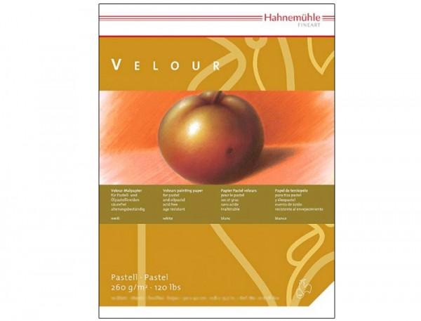 Pastellpapier Velour 260 g/m², 24x32cm, 10 Blatt, weiß