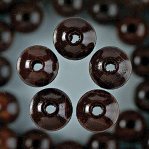 Holzperlen 10mm, 53 Stück - braun
