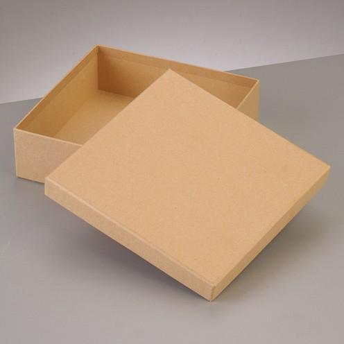 Box, Quadrat, aus Pappmaché, 16,5 x 16,5 x H 8 cm