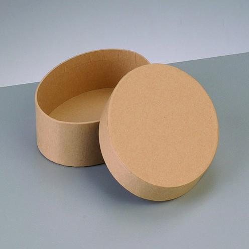 Box Oval, aus Pappmaché, 16,5 x 10,5 x 5 cm