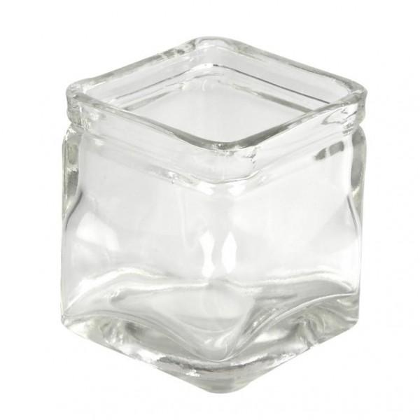Glas, quadratisch, 7,5 x 7,5 cm, Höhe 8 cm