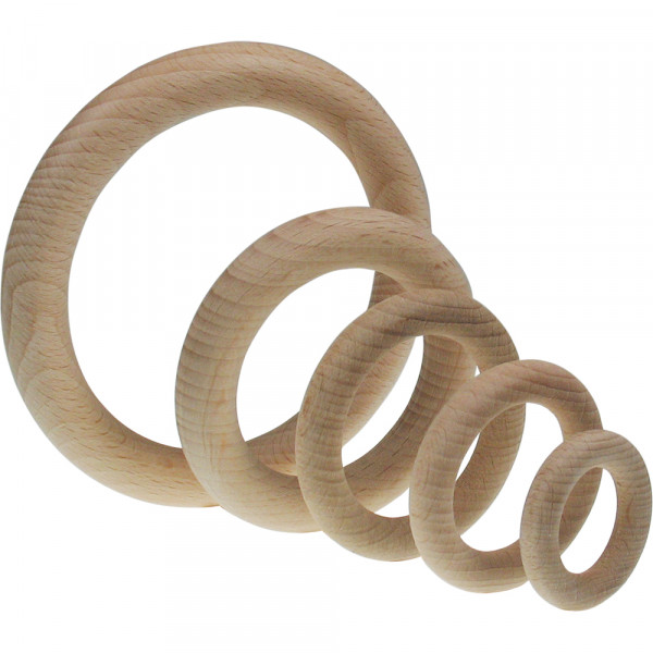 Holz-Ring, natur, Ø 70mm außen, 12mm stark