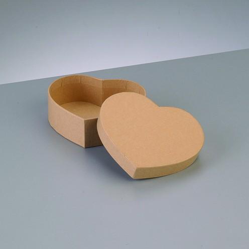 Box Herz, aus Pappmaché, 10,5 x 9 x 3,6 cm