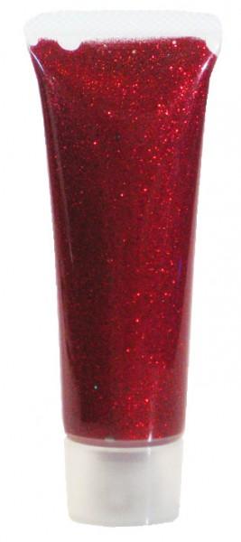 Eulenspiegel Glitzer-Gel, 18 ml, Rot-Juwel holographisch