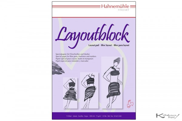 Layoutblock, 75g/m², DIN A4, 75 Blatt