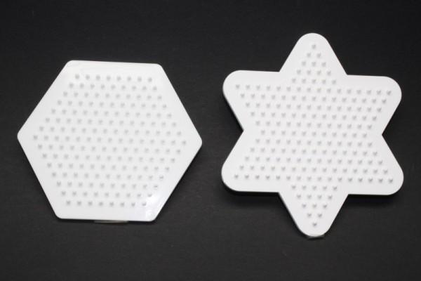 Photo Pearls® Legeplatte, 9 cm, 1 x Hexagon, 1 x Stern
