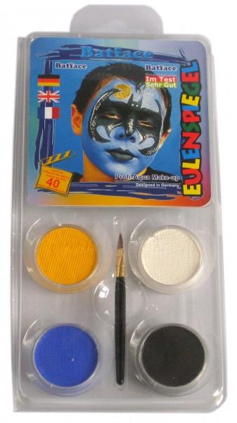 Eulenspiegel Schminkfarbe Motiv-Set Batface, 4 Farben
